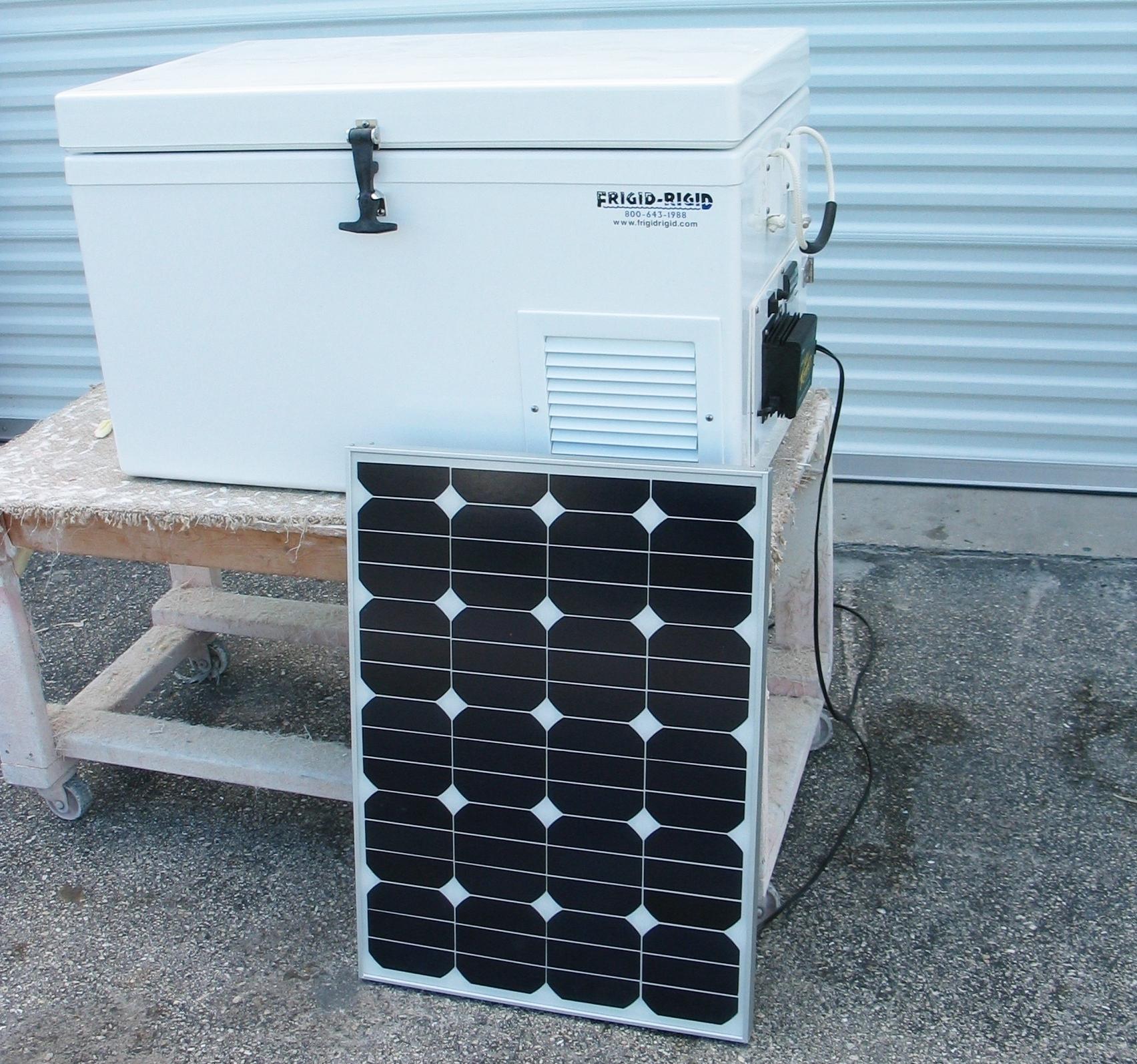 Solar Power Cooler Solar Refrigerator Freezer Frigid Rigid
